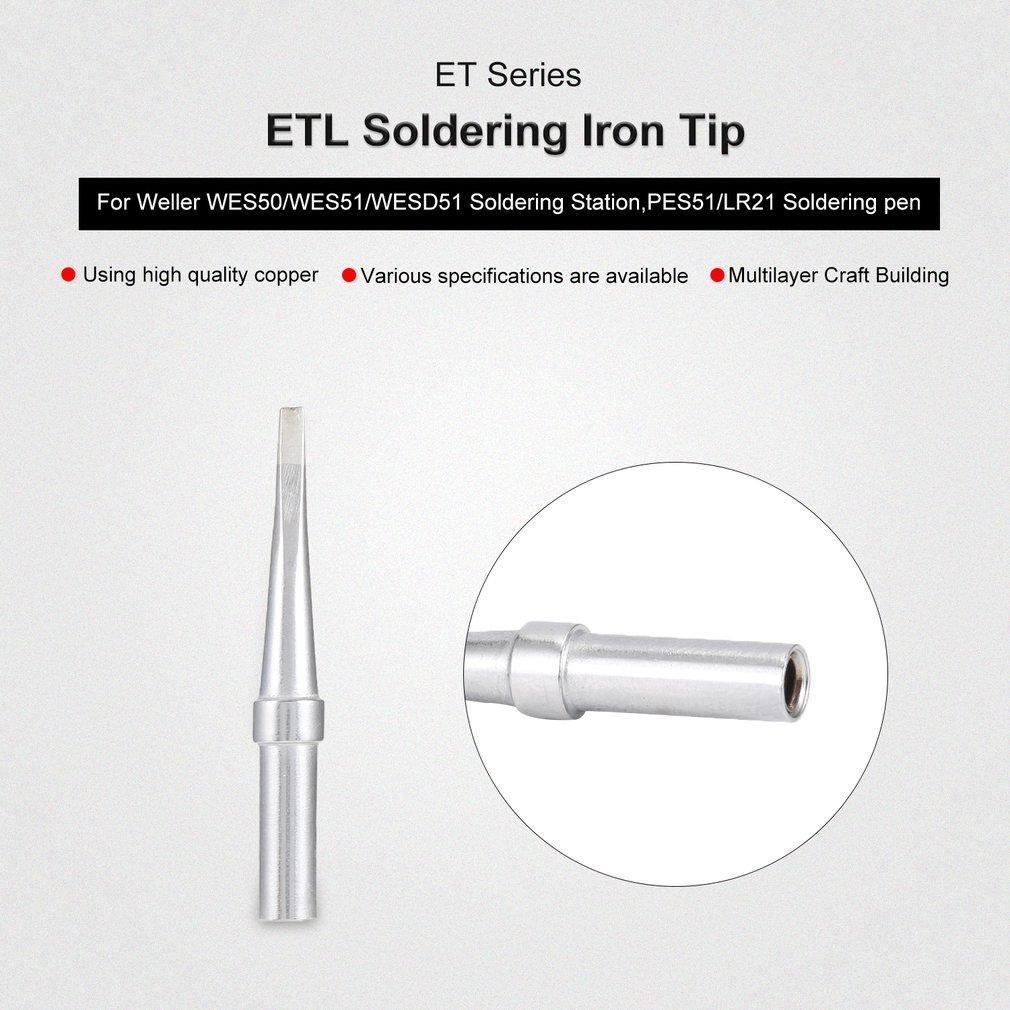 2Pcs ET Soldering Iron Tips ETL Welding Tools for Weller Soldering Station
