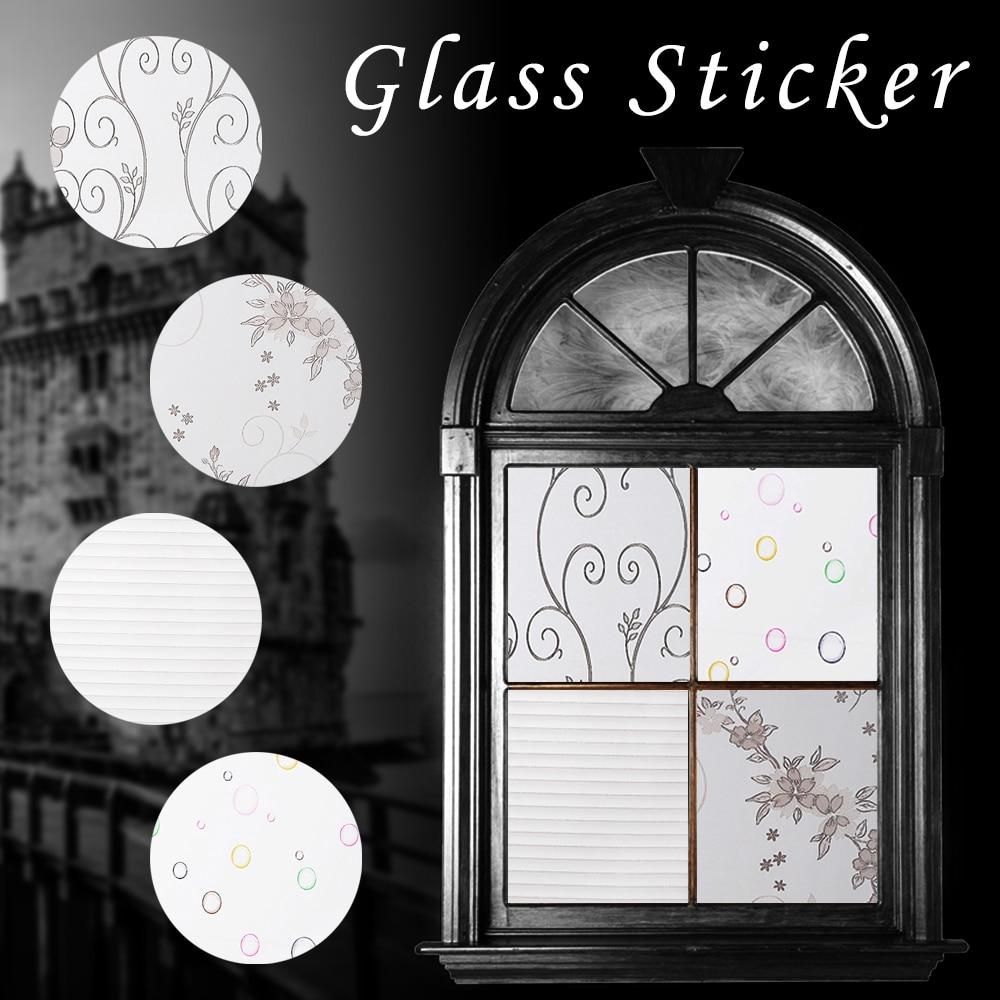 1 Pc 45*100 Cm Matt Opaque Glas Fenster Film Für Fenster Privatsphäre Selbst Klebe Film Glas Aufkleber Hause Dekor Gemischten Farbe Schlafzimmer Neueste Technik