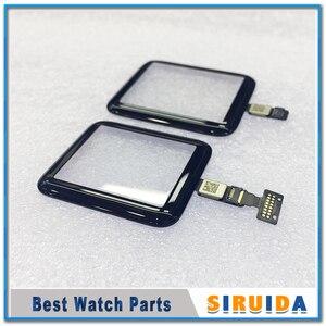Image 2 - 1 adet 38mm 42mm dokunmatik ekran digitizer Apple için İzle serisi 2 3 S2 S3 LCD ön cam sensörü dış panel kapak esnek kablo ile