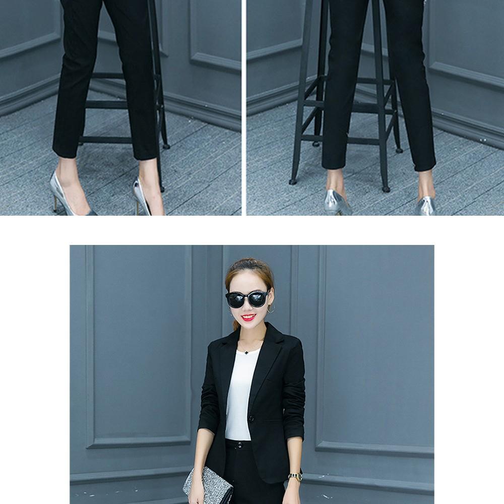 2017 w nowym stylu mody OL eleganckie kobiety pant suits formalna firm garnitur nosić pełne rękawem jednego przycisku femme blazer garnitur szczupła kurtka 17