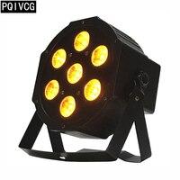 7x12w 6in1 led Par light RGBWA+UV 6in1 flat par led dmx512 disco lights professional stage dj equipment