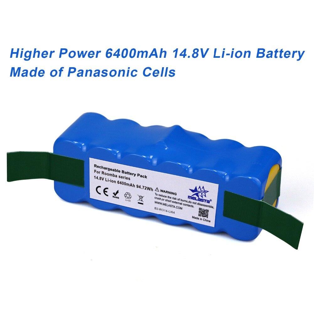 6.4Ah 14.8V Li-ion Battery for iRobot Roomba 500 600 700 800 Series 510 530 531 532 550 585 561 620 630 650 760 770 780 870 880
