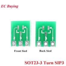 SOT23 SOT23-3 Turn SIP3 Double-Side Vire SMD Para DIP Adaptador Conversor Placa SOT IC SIP Soquete da Placa do PWB kit Diy