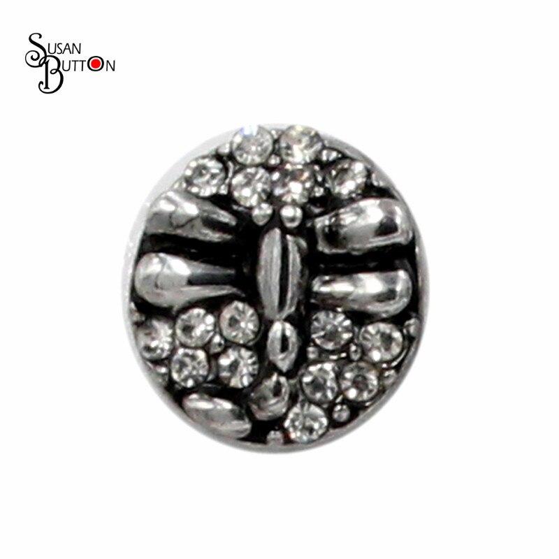 b469cb85e413 ̀ •́ 12mm mini Snap encanto libélula jengibre Pop Chunky Snap botón ...