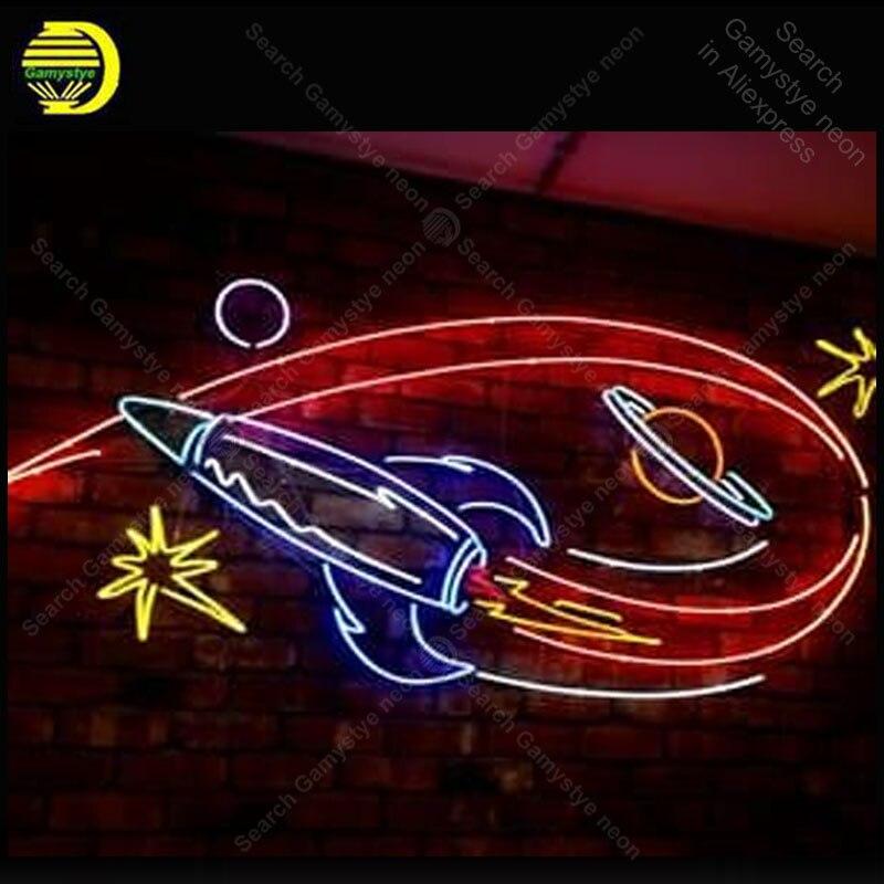 Néon lumière signes fusée univers néon ampoule enseigne lampe artisanat bière PUB affichage LOGO personnalisé néon Letrero néons enseigne lumine