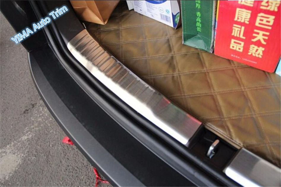 For Honda CRV CR-V 2015 2016 Stainless Steel Rear Trunk Scuff Plate Door Sill Cover Molding Garnish 2 Pcs / Set teaegg outer rear bumper protector sill trunk tread plate for honda crv cr v 2015 2016 2017