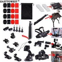 Easttowest Go Pro Accessories Head Chest Strap Bike Mount Holder for Xiaomi Yi Action Camera Gopro Hero 4 3 SJCAM SJ4000 SJ5000