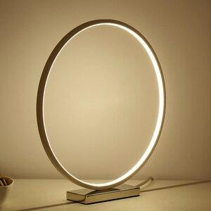 Image 2 - Nordic Kreative Kunst Deco Dimmbare LED Tisch Lampe Minimalismus Moderne Runde Schreibtisch Tisch Licht Nacht Lampe Persönlichkeit Geschenk