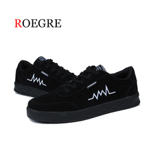 ROEGRE Brand Spring Summer Canvas Shoes Men Sneakers Low top Black Shoes Men's Casual Shoes Male Fashion Sneakers Balack
