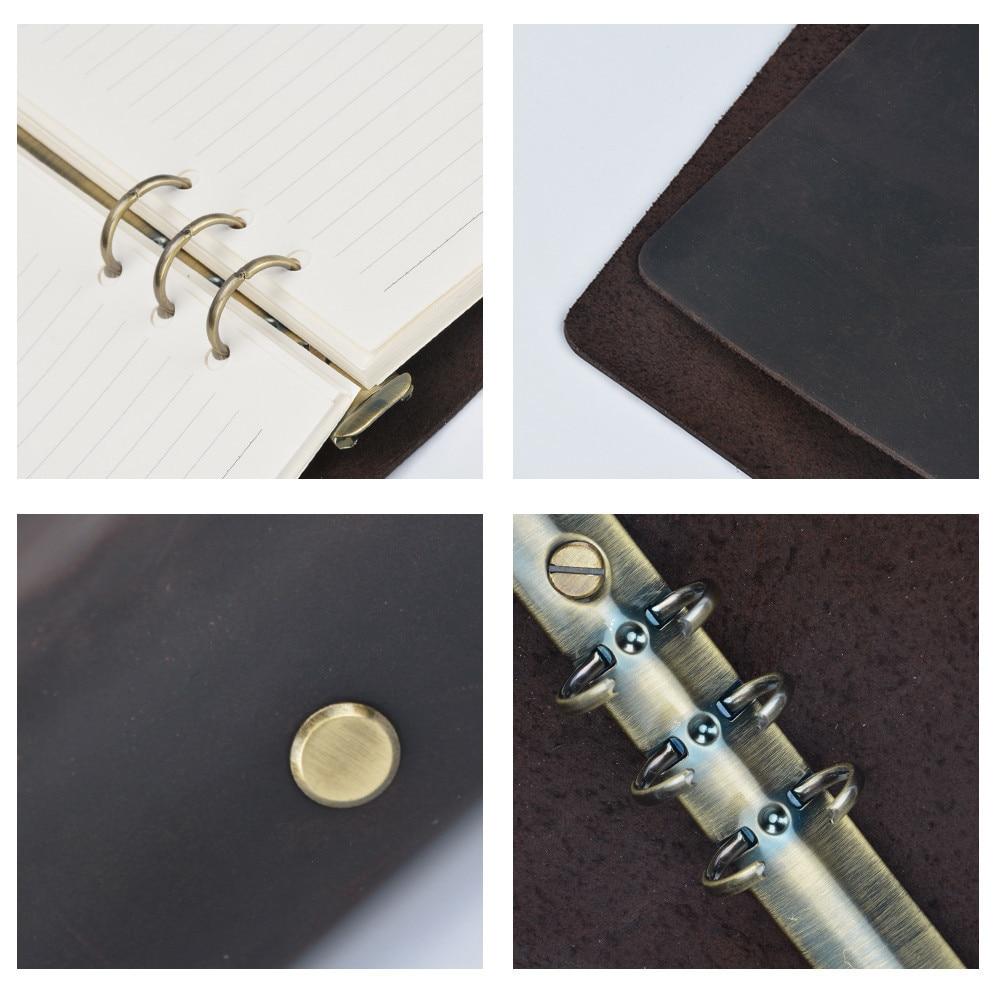 Classic Writing Zakelijk Notebook A5 Leder Cover Hervulbare Pages - Notitieblokken en schrijfblokken bedrukken - Foto 4