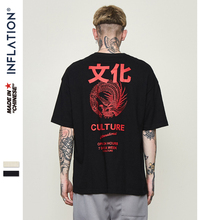 INFLATION Zhongwen Graphic Printed Cotton Short Sleeve Casual T shirt O neck Top Tees Menswear New