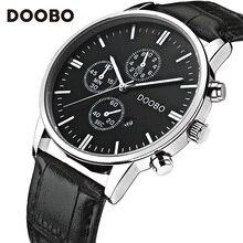 Doobo marca de lujo militar relojes cuarzo de los hombres de negocios reloj de hombre deportivo de cuero reloj analógico militar relojes relogio masculino