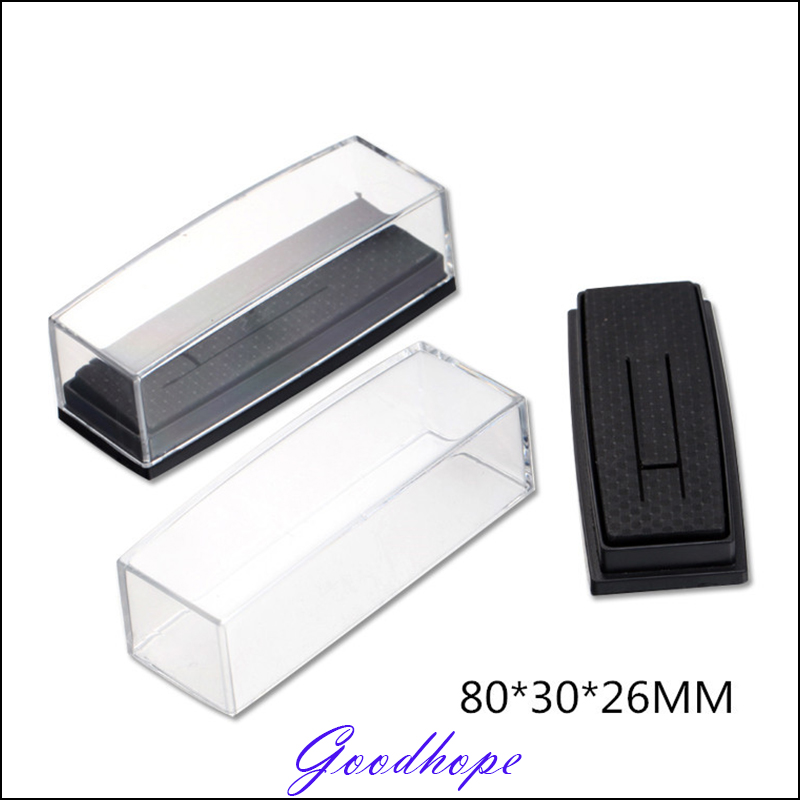 Wholesale 120pcs Clear Cover Box for Tie Clip Pin Gift Boxes Wedding Engagement Favours Stickpin Display & Packaging Casket