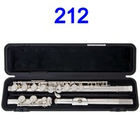 Japan Professional Flute 212 Silver Plated Flute Instrument Intermediate Student Flutes 16 Holes Close E key Ring Keys
