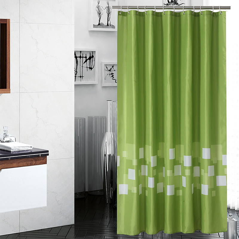 Aliexpress.com : Buy Green Solid Color Bath Tropical Shower Curtain  Polyester Fabric Waterproof Eco Friendly Bathroom Curtain Cortina De Ducha  From Reliable ...