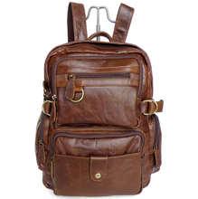 Maxdo Vintage brown real genuine leather women backpack cowhide women travel bags #MD-J7042