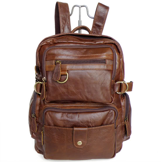 Vintage brown real genuine leather women backpack cowhide women travel bags #MD-J7042 hot sale women s backpack the oil wax of cowhide leather backpack women casual gentlewoman small bags genuine leather school bag
