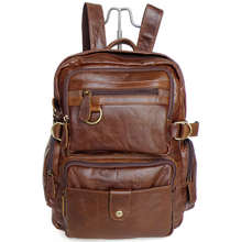 Vintage brown real genuine leather women backpack cowhide women travel bags #MD-J7042