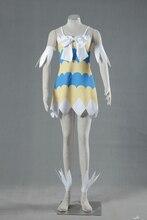 Anime Fairy Tail Wendy Marvell cosplay Debut ropa Cómoda tela De Buceo con hermosa impresión digital