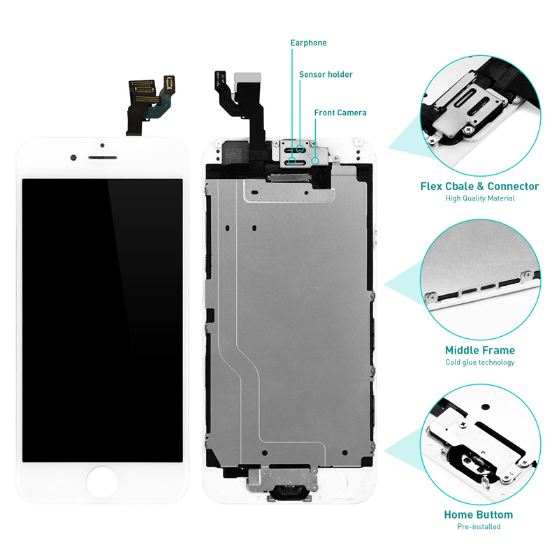 HTB1z1KlX2fsK1RjSszgq6yXzpXal For iPhone 6 6S 7 LCD Full Assembly Complete Display For iPhone 6 6s 100% With 3D Touch Screen Camera+Button AAA+++ Replacement