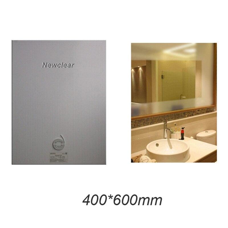 Nuevo espejo de baño desempañador Películas calefacción eléctrica Películas pared pegatina espejo antivaho Pad no niebla espejo calentador pad membrana
