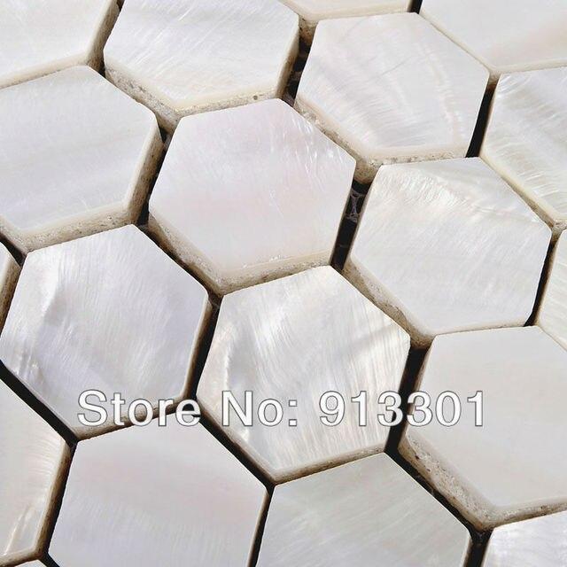 Shell baño azulejo paredes suelos seashell hexagonal madre de pearl ...