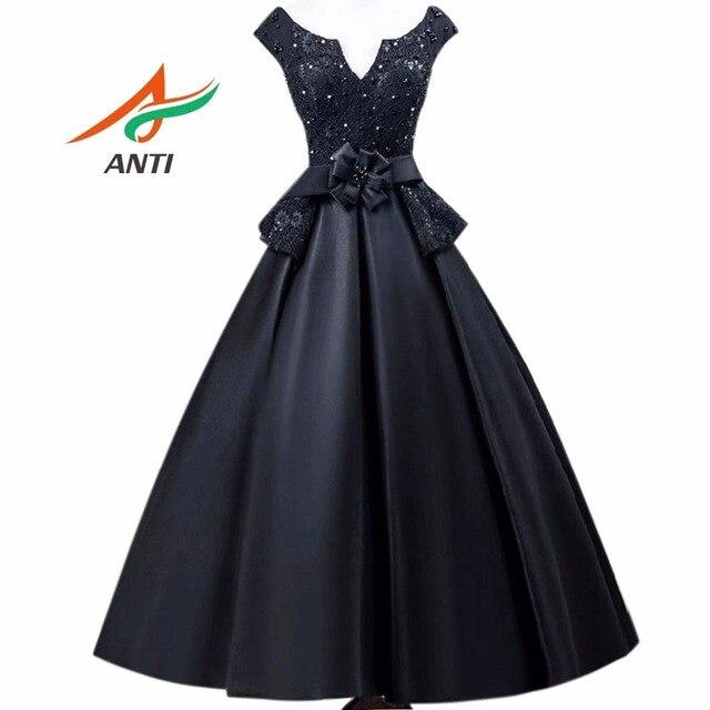 ANTI 2017 Vintage Black Cocktail Dresses Robe De Vestidos De Coctel Evening  Party Short Gowns For Pictures Gallery