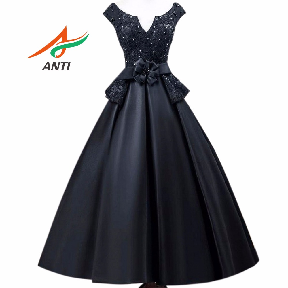 ANTI 2018 Vintage Black   Cocktail     Dresses   Robe De Vestidos De Coctel Evening Party Short Gowns For Graduation Sweet 16 Years