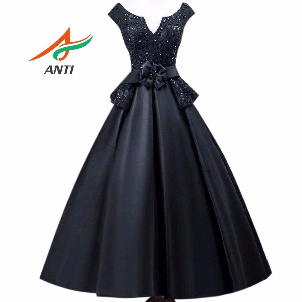 ANTI 2019 Vintage Black   Cocktail     Dresses   Robe De Vestidos De Coctel Evening Party Short Gowns For Graduation Sweet 16 Years