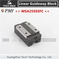 Taiwan PMI linear guideway slide carriage block MSA25S MSA25SSSFC slider for CO2 laser machine