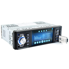 4.1 Inch 1 Din HD Bluetooth Car Stereo Radio Auto MP3 MP5 Audio Player Support USB FM TF AUX Reverse Rearview Camera