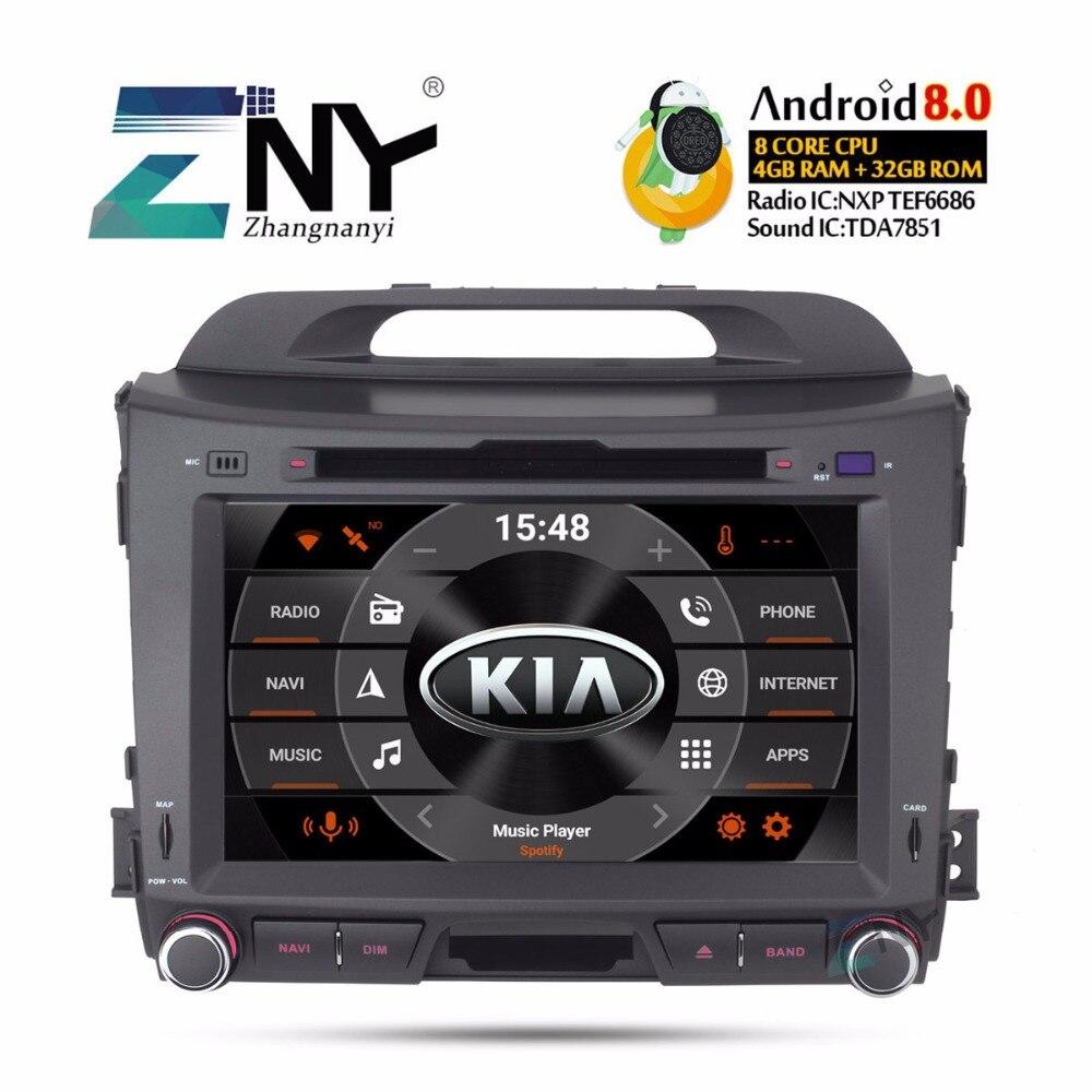 Android 8.0 autoradio lecteur dvd 2 Din Pour Kia Sportage 2009-2015 8 IPS Multimédia navigation gps Stéréo 4 + 32 GB Cadeau Caméra