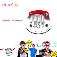 Enjoybay Polygraph Tricky Toy Adjustable Micro Electric Shock Lie Detector Shocking Liar Truth Party Game Consoles Adult Toys
