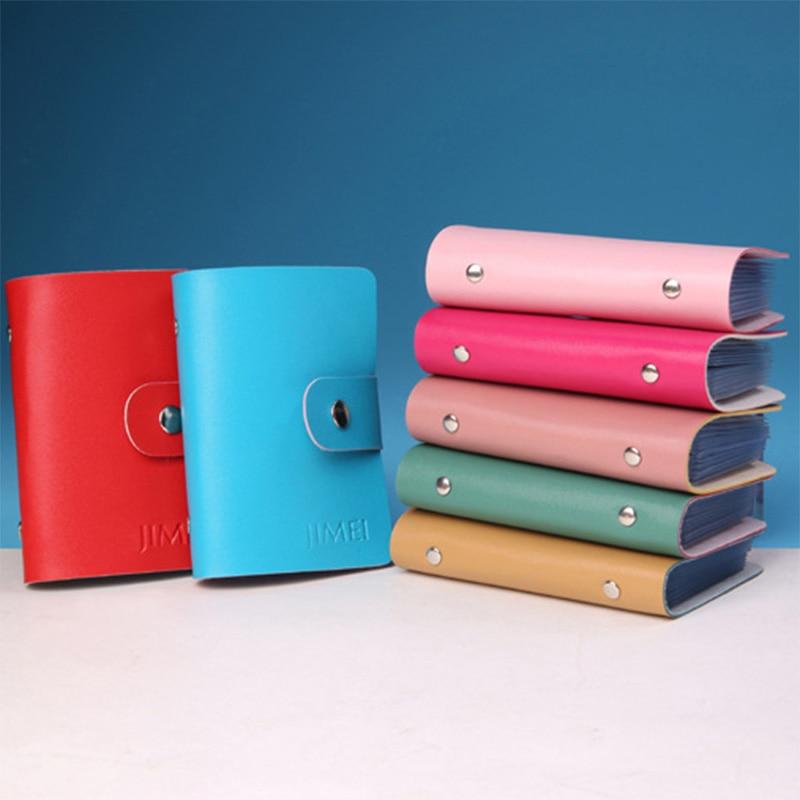 CreditCard Holder 2017 Mini Wallet Men Women Artificial Leather Case Card Holder Wallet Business Card Wallets Bag Case 13 Colors