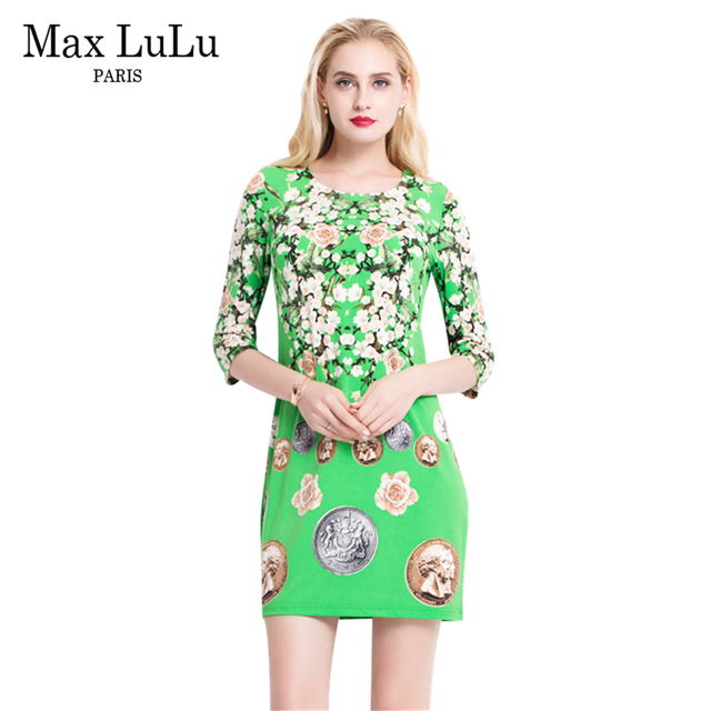 max lulu new 2017 spring autumn high quality women's boho dress a