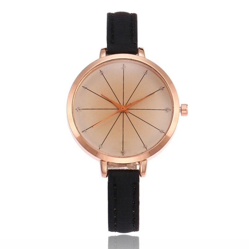 New Arrive Leather Strap Analog Display Women Dress Watch Fashion Casual Quartz Watch Women Wristwatch relogio feminino