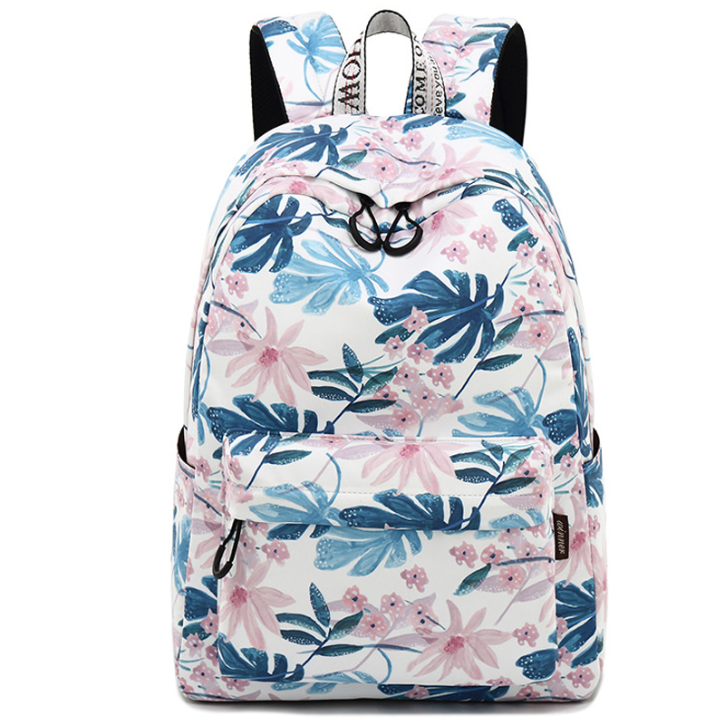 Casual Waterproof Fabric Floral Canvas Printing Women Bagpack High Schoolbag Student Backpacks for Teenagers Girls Rucksack tourya vintage canvas women backpack school bags schoolbag for teenagers girls floral printing travel laptop bagpack mochila