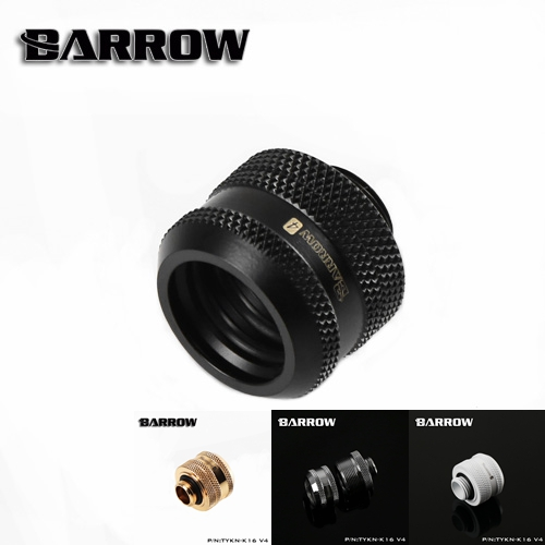 Barrow TYKN-K16V4, OD16mm Hard Tube Fittings, G1/4 Adapters For OD16mm Hard Tubes