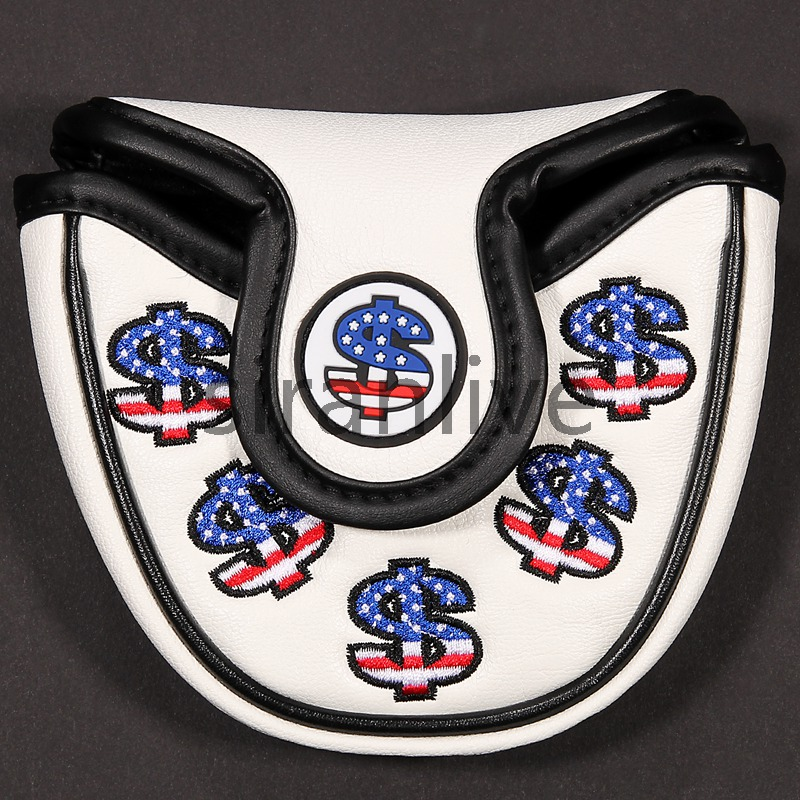 High Quality Golf Putter Cover Custom Mallet Putter Cover Golf Club Headcover FREE SHIPPING