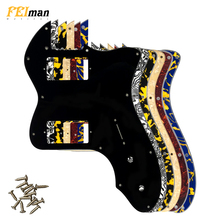 Pleroo Guitar Parts pickguard For Fender Classic Series '72 Telecaster Tele Thinline Guitar With PAF Humbucker Replacement