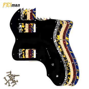 цена на Pleroo Guitar Parts pickguard For Fender Classic Series '72 Telecaster Tele Thinline Guitar With PAF Humbucker Replacement