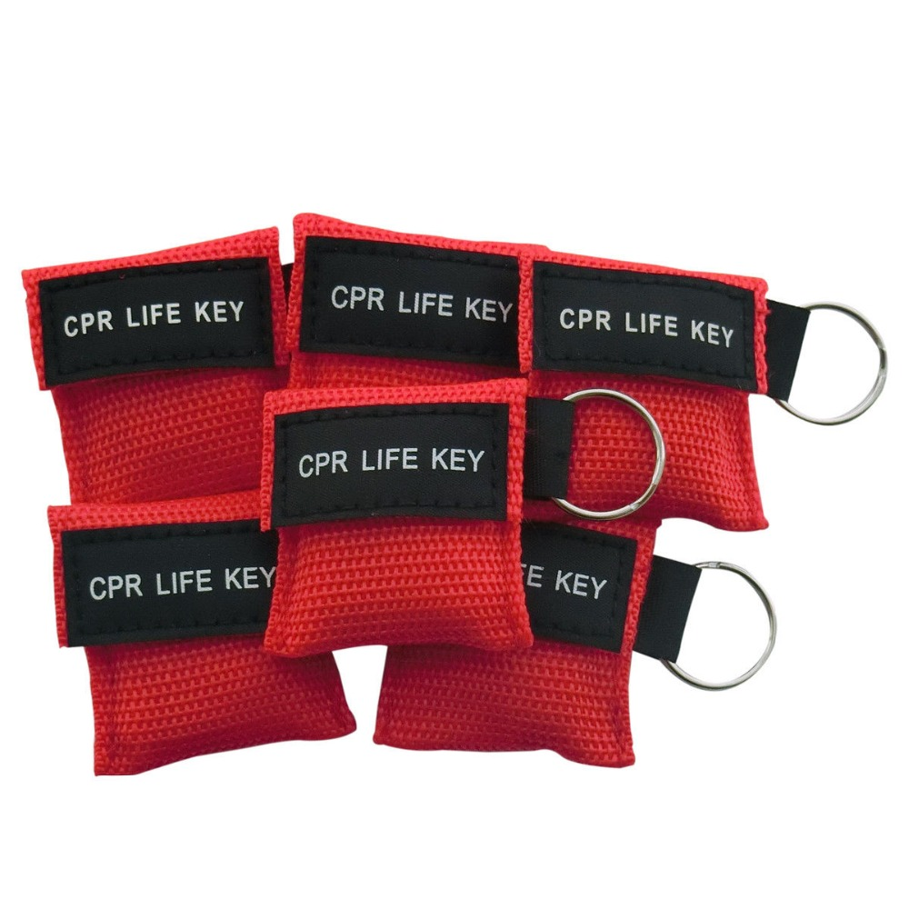 CPR Resuscitator Mask With CPR Life Key Keychain Face Shield  Swimming Gym Heart Stop First Aid Rescue Tool Cpr School Tools