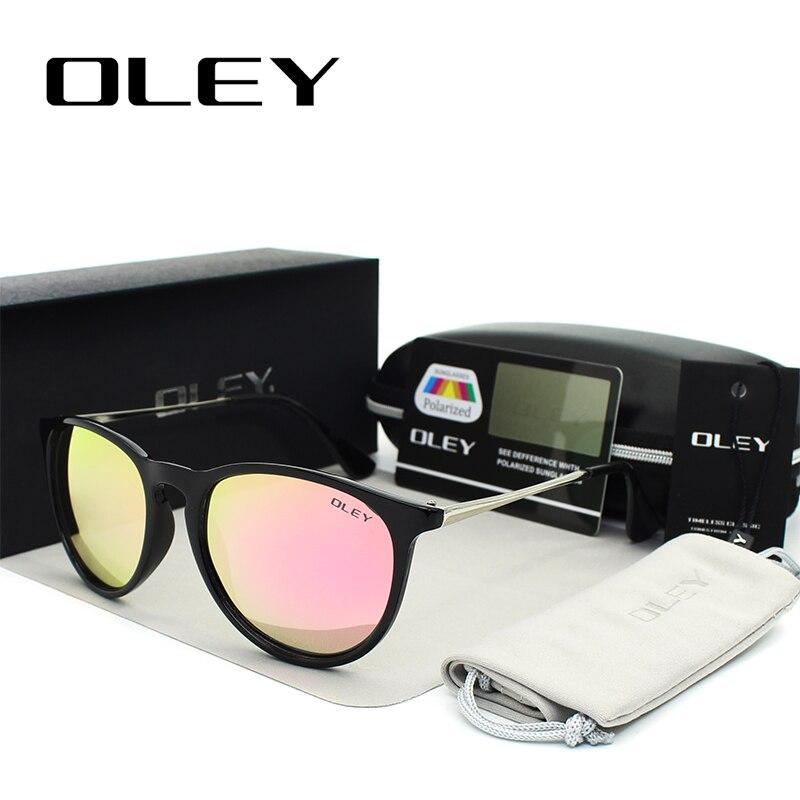 OLEY gafas de sol polarizadas mujeres estilo retro marco de metal - Accesorios para la ropa - foto 2