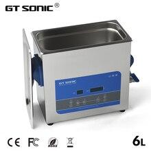 GTSONIC цифровой ультразвуковой очиститель для ванны 6л 150 Вт 99 мин таймер нагрева Degas ювелирные очки PCB инструменты автомобильные металлические части R6