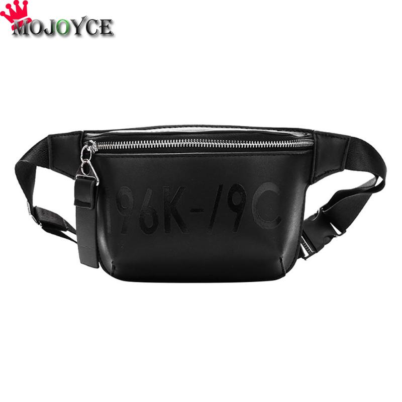Fashion Women Street PU Leather Waist Bags Pouch Zipper Fanny Pack Belt Shoulder Messenger Chest Black Bag for women 2018 fit 1 6 12 dolls scene accessories piano red wood transparent piano stool set