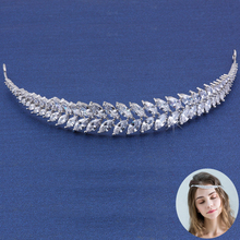 New Fashion Bride Wedding Hair Accessories Leaves Classic Simple Tiara Women Elegant Tiara Anniversary Jewelry Gift Accessoires