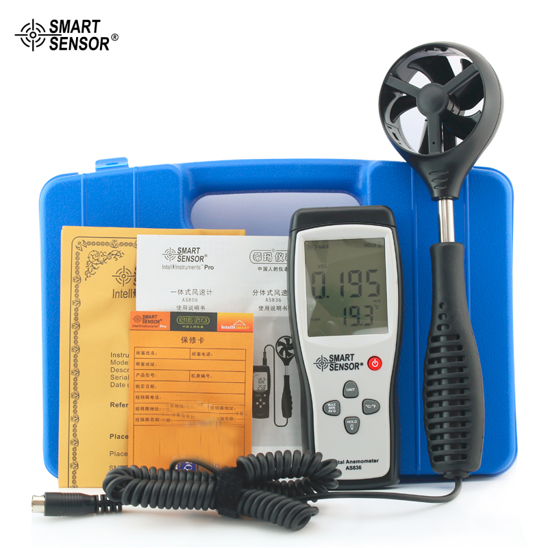 Smart Sensor AS836 Digital Anemometer Wind Speed Meter Wind Direction