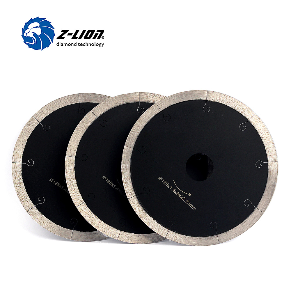 Z-LION 125mm 3pcs/Lot Diamond Blade Cutting Disc Best For Porcelain Tile Marble Ceramic Wet Used Super Thin Circular Saw Blades berrylion diamond saw blade circular saw 114mm cutting disc wet diamond disc for marble concrete stone cutting tools