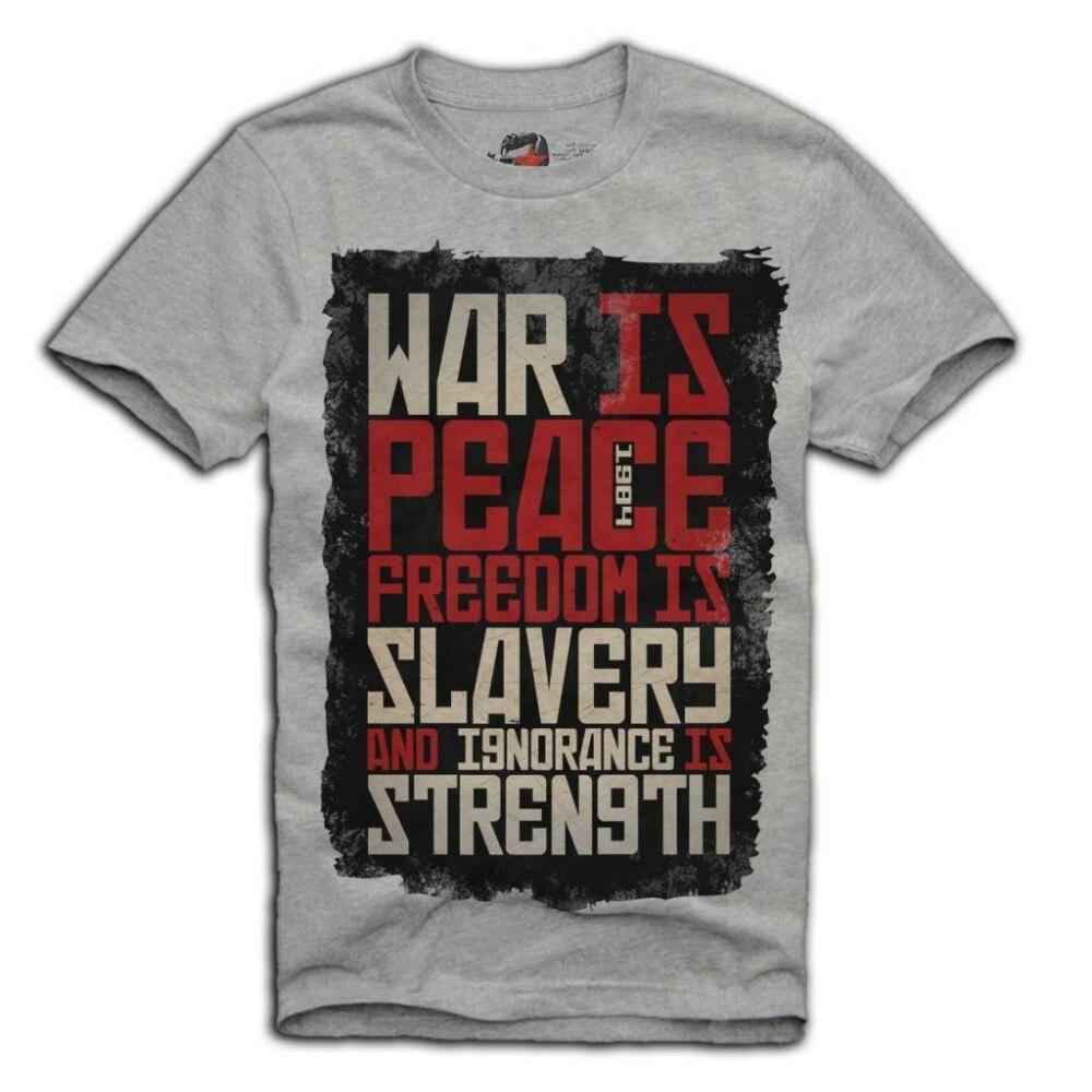 FREEDOM IS SLAVERY Men Ladies George Orwell T Shirt 1984 WAR IS PEACE