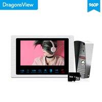 Dragonsview 7 дюймов 960 P видео домофон дверной звонок Системы сенсорная кнопка видео вратарь спящий режим движения Запись